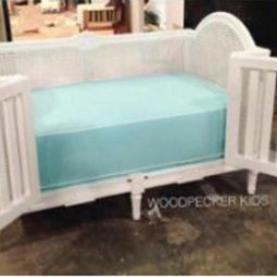 Addie Baby Crib With Rattan